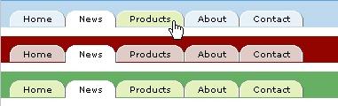 CSS Navigation Showcase: Lightweight CSS Tabs // fiftyfoureleven.com